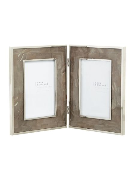 Casa Couture Grey Mother of pearl Hinged frame