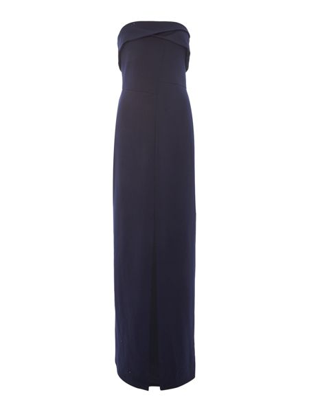JS Collections Strapless dress with split
