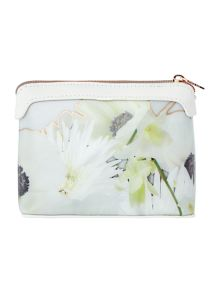 Ted Baker Florinn grey small cosmetic bag