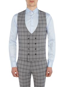 Label Lab Belvin Check DB suit waistcoat