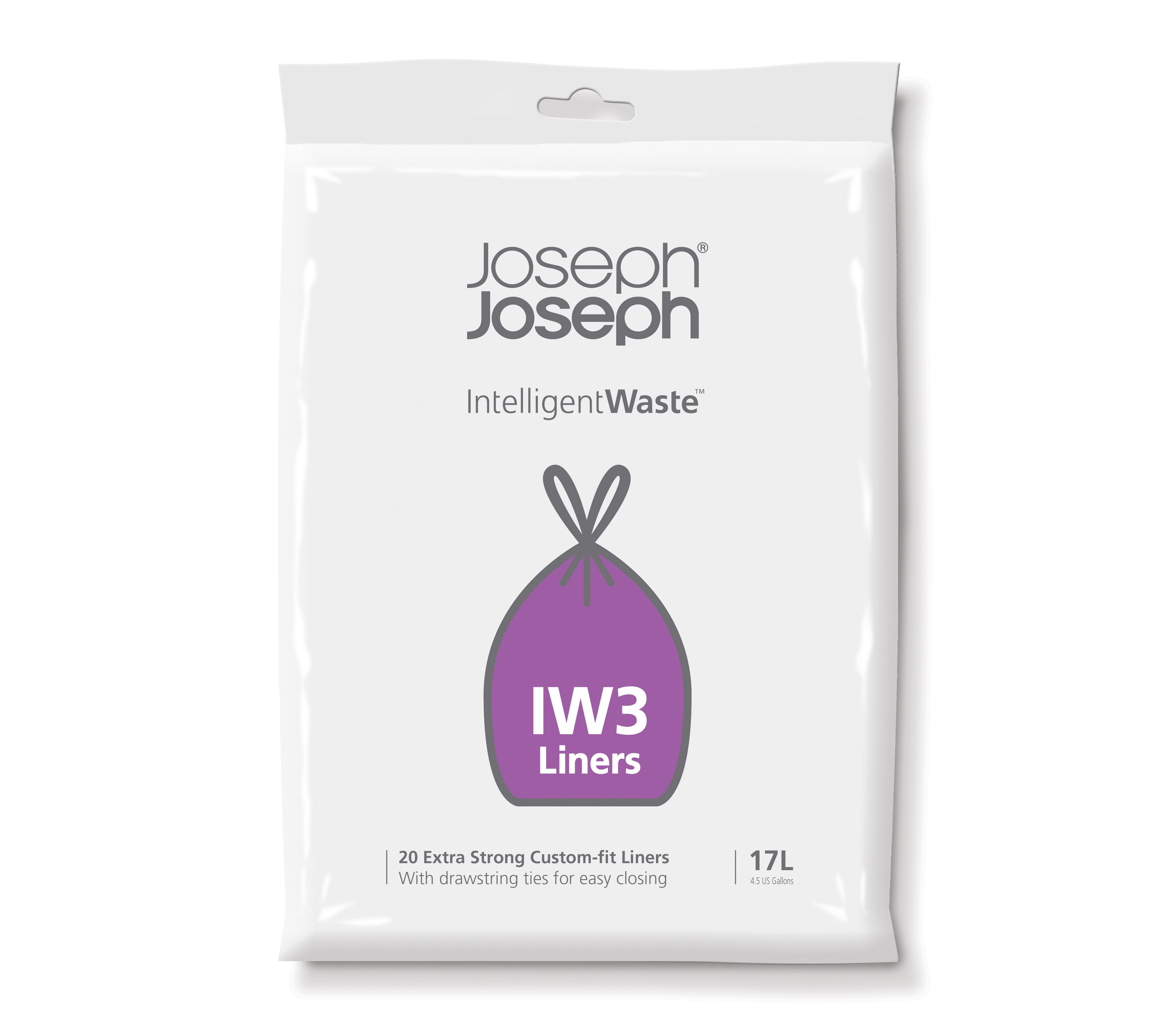 Image of Joseph Joseph 17L General Intelligent Waste bin liners -20 Pack