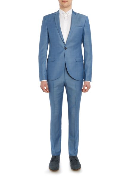 Label Lab Terrell SB1 notch lapel textured suit jacket