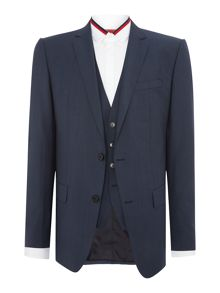 Hugo Boss Hevans Gill Petrol Blue Three-Piece Suit