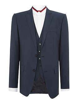 Hevans Gill Petrol Blue Three-Piece Suit