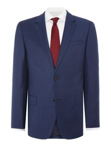 Hugo Boss Huge Genius Textured Navy Blue Suit