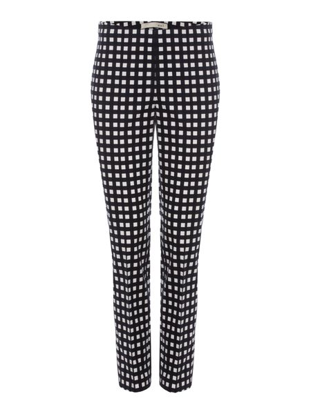 Oui Grid Check Tapered Trousers