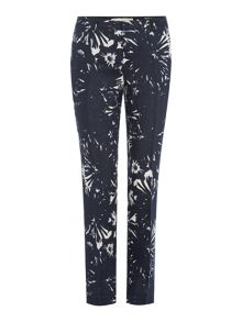 Oui Floral Print Tapered Trousers