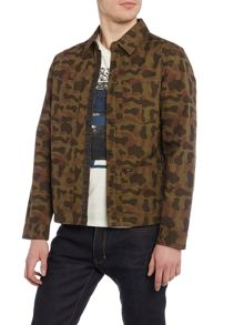 Lee Regular fit camo print long sleeve overshirt