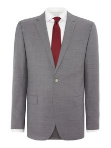 Hugo Boss Hutson Gander Textured Grey Suit