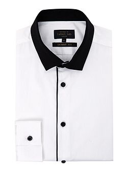 Parker Contrast collar shirt trimmed edge placket