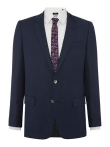 Hugo Boss Hutson Textured Basketweave Navy Blazer
