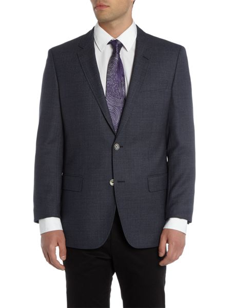 Hugo Boss Hutson Textured Navy Blazer