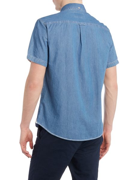 Original Penguin Baton denim short sleeve shirt