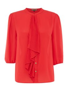 Biba Pleated frill detail blouse