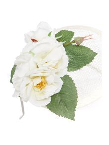 Crown and Glory Wild rose fascinator