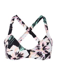 Bikini Lab Tropical floral bralette