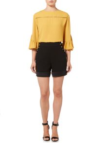Biba Button detail tailored shorts