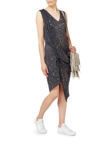 Label Lab Hitch jersey dress with spray pattern