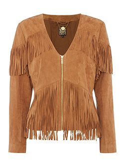 Real suede limited edition tassel jacket