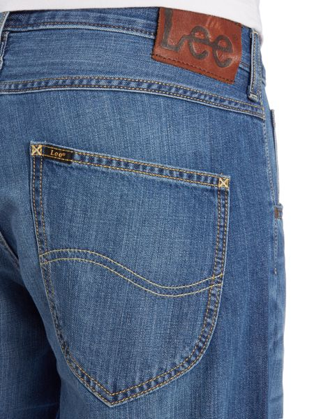 Lee Slim fit 5 pocket denim turn up shorts