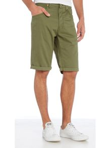 Lee Slim fit khaki denim turn up shorts