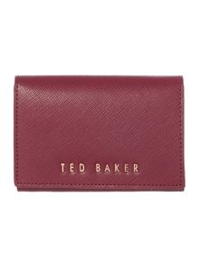 Ted Baker Carley burgundy small flapover purse