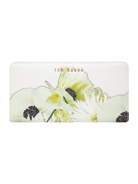 Ted Baker Ariadne grey large ziparound purse