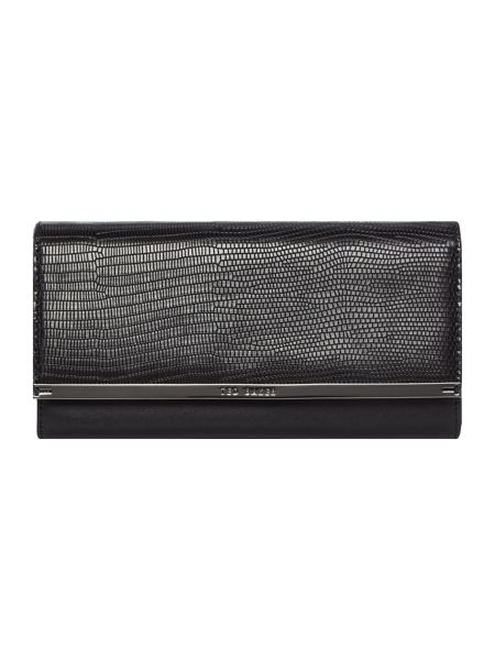 Ted Baker Anneth black large flapover purse