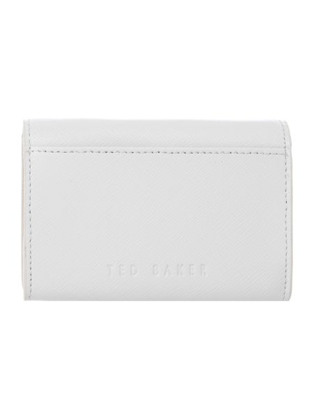 Ted Baker Carley grey small flapover purse