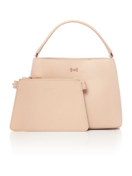 Ted Baker Lainy taupe small bow tote bag