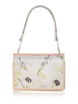 Tasminn grey floral tote bag