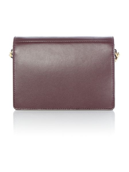 Ted Baker Zanna burgundy small cross body bag