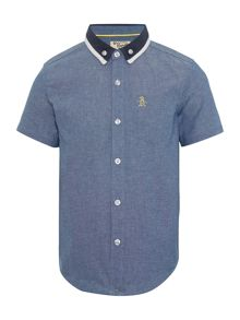 Original Penguin Boys Chambray Polo Collar Shirt