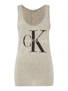Calvin Klein Sleeveless Re-issue Logo tank