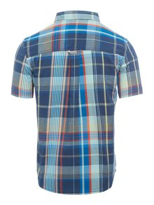 Original Penguin Boys Madras Chack Short Sleeve Shirt
