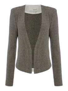 Oui Textured Collarless Jacket