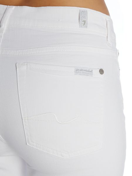 7 For All Mankind Rozie slim jean in clean white