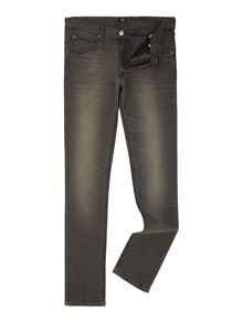 Lee Luke black lead slim tapered fit jeans