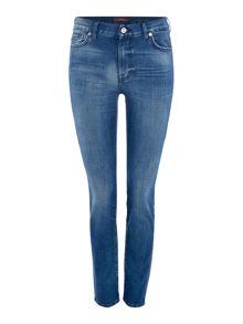 7 For All Mankind Rozie slim crop jean in left hand dark