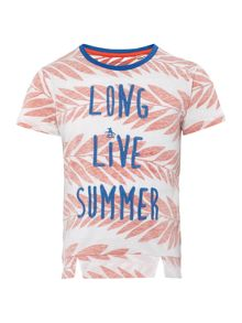 Original Penguin Girls Long Live Summer Printed T-shirt
