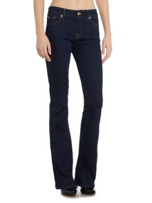 7 For All Mankind A pocket mid rise flare jean in long beach dark