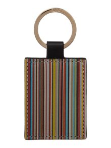 Paul Smith London Multistripe fob keyring
