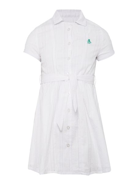 Original Penguin Girls Short Sleeve Shirt Dress