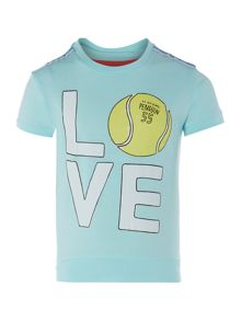 Original Penguin Girls Love Tennis Print T-shirt