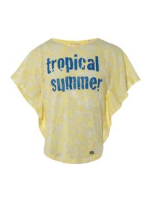 Original Penguin Girls Tropical Summer Printed T-shirt