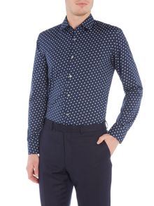 Hugo Boss Jenno Slim Scratch Spot Design Shirt