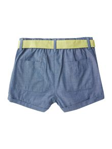 Original Penguin Girls cotton Shorts With Rope Belt