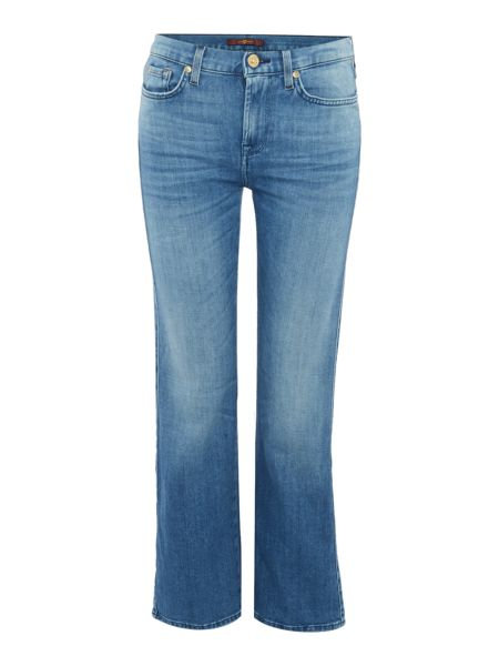 7 For All Mankind Cropped bootcut jean in left hand mid