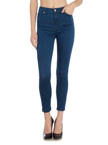 7 For All Mankind High waist slim illusion crop in luxe petrol