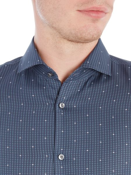 Hugo Boss Jason Slim Micro Geo Design Shirt